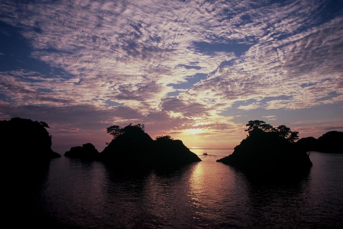 (特選)堂ヶ島の夕景