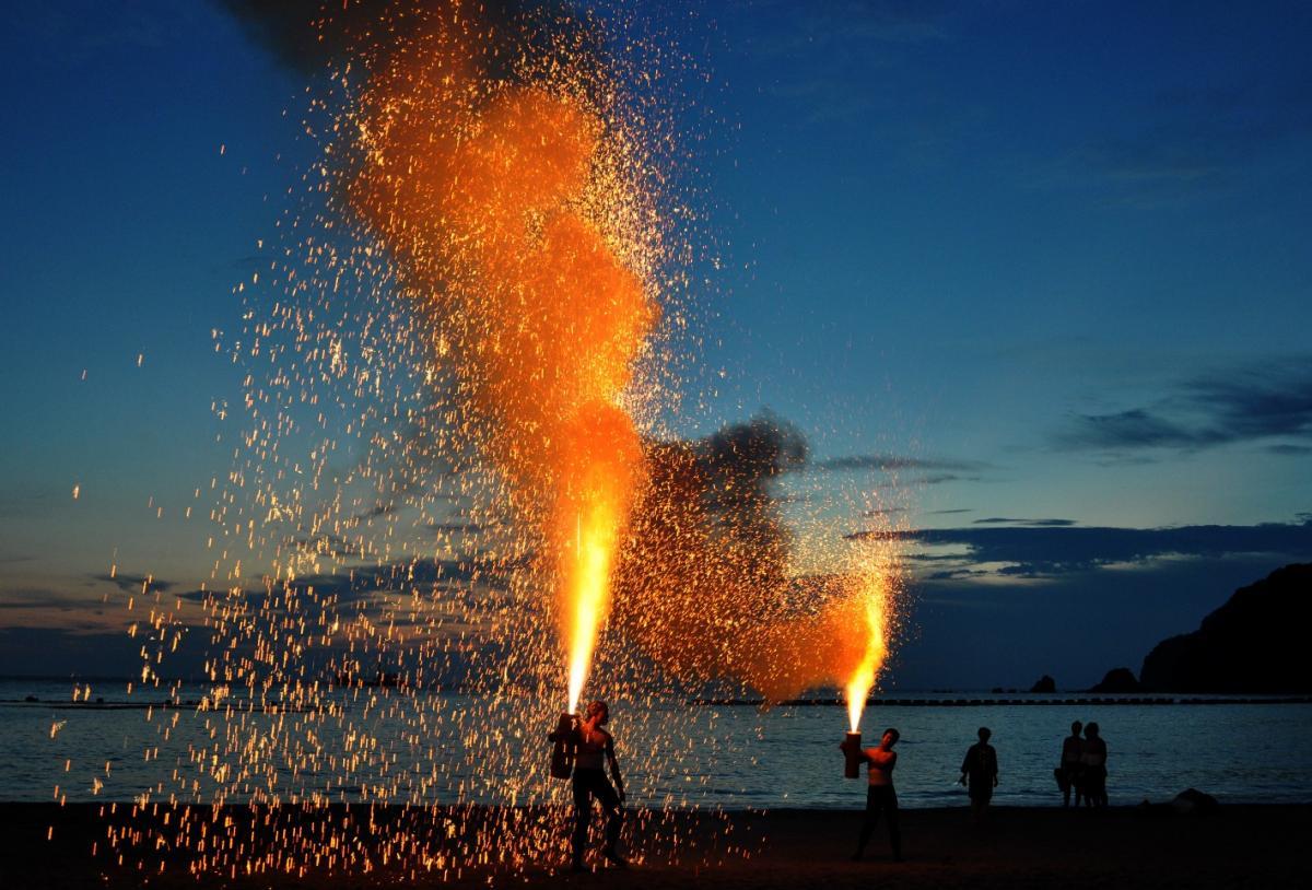 (入選)手筒花火の競演