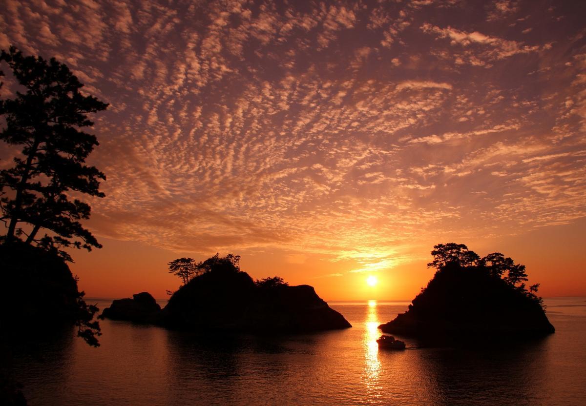 (特選)堂ヶ島の落日