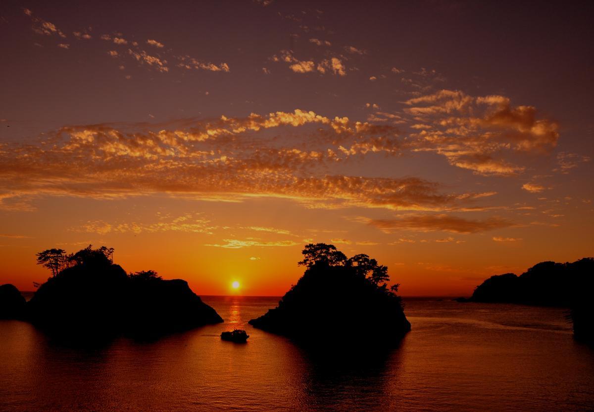 (入選)夕照の堂ヶ島