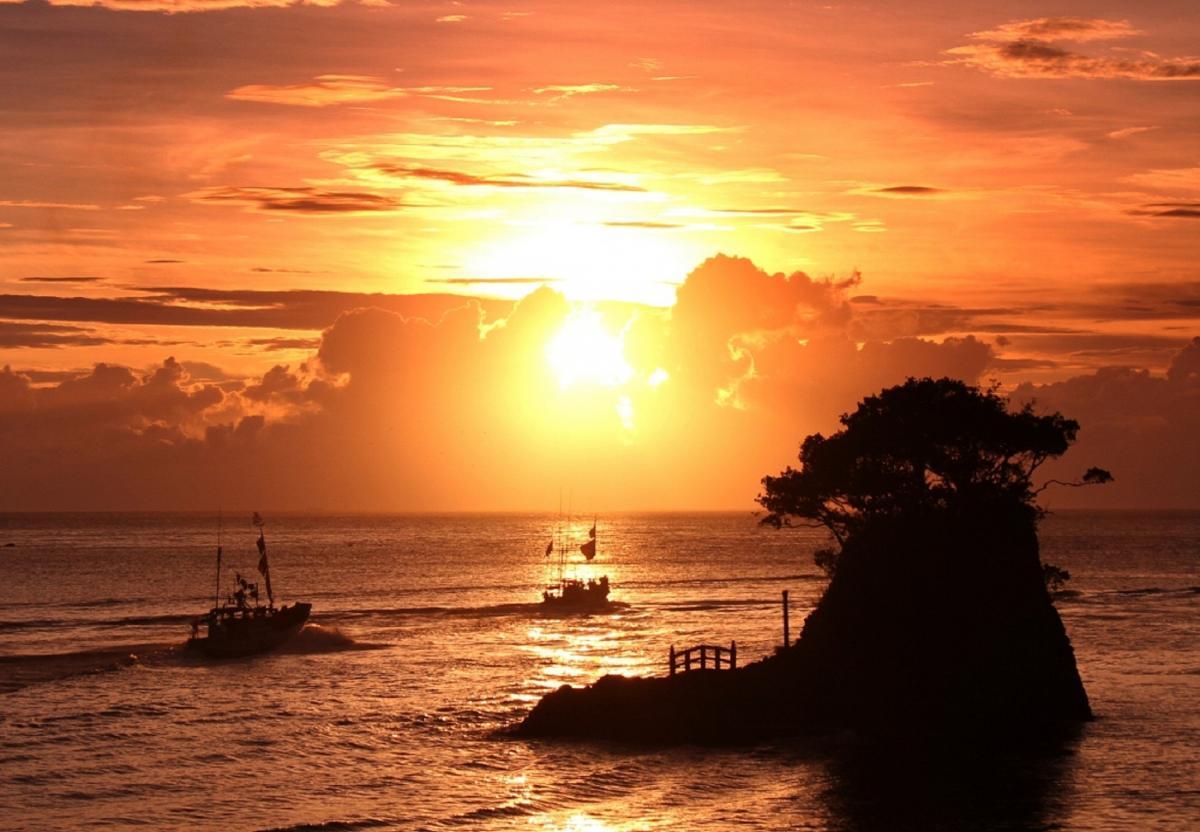 (特選)安良里港の落日