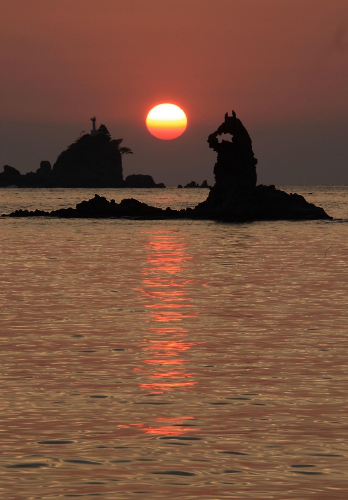 (入選)大田子海岸の夕日