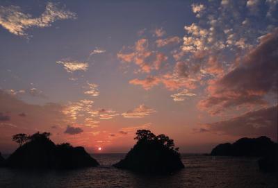 (佳作)堂ヶ島の空を染める夕陽