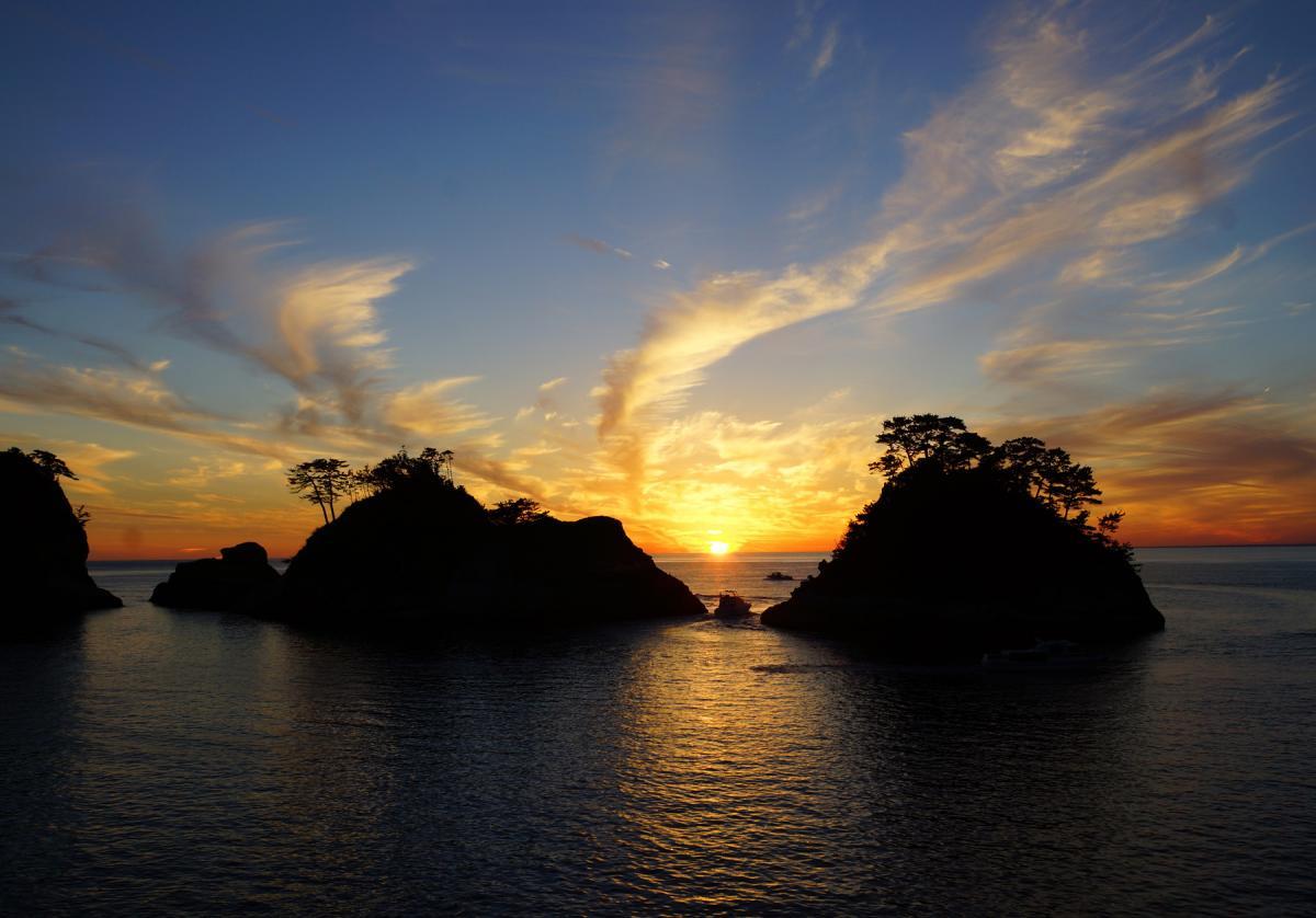 (入選)堂ヶ島の夕景色
