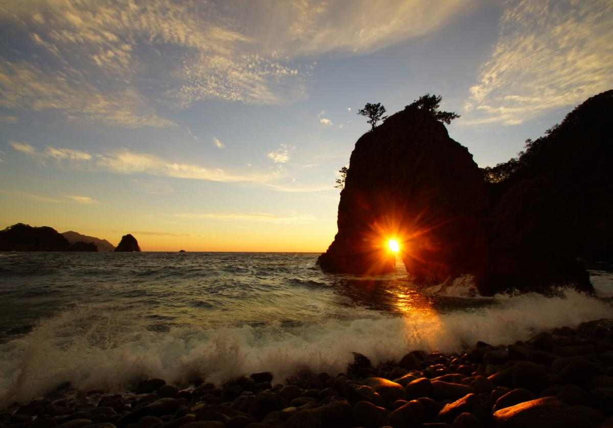 (佳作)浮島海岸の夕景