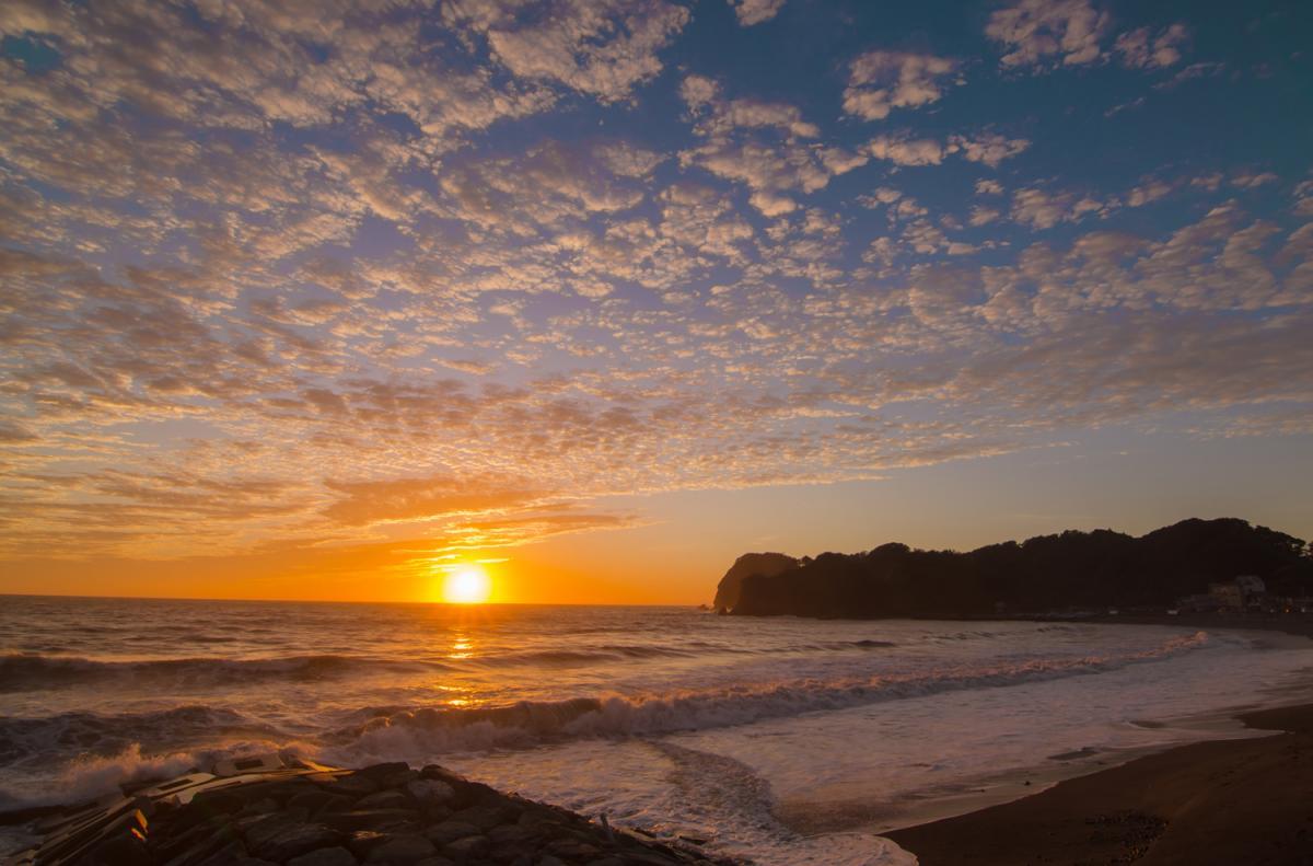 (入選)大浜海岸の夕陽