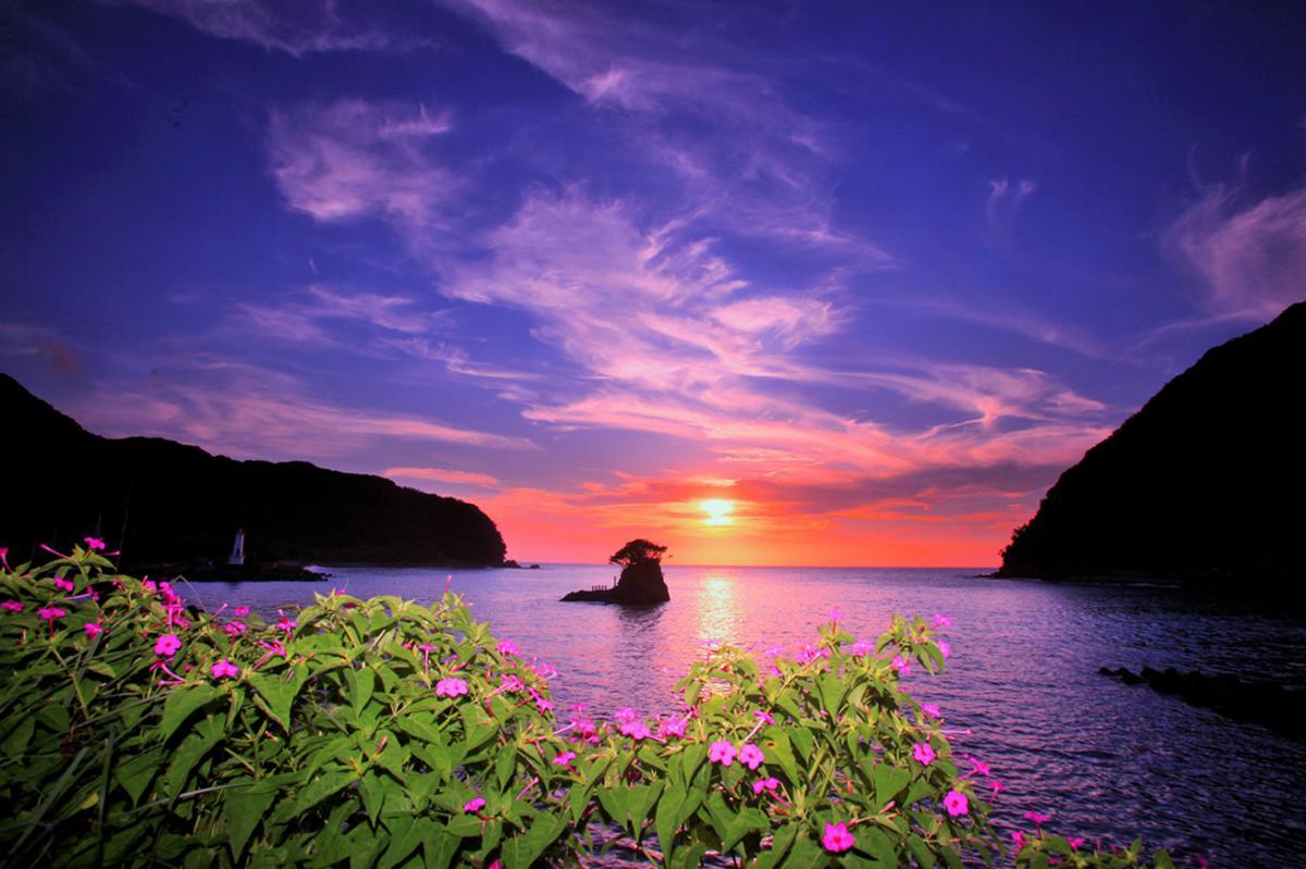 (佳作)安良里港の夕景
